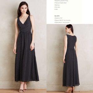 ⭕️Sold⭕️Anthro Clipdot Maxi Dress by Eva Franco